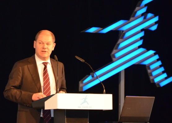 Bürgermeister Olaf Scholz bei seiner Grundsatzrede zur Zukunft Wilhelmsburgs