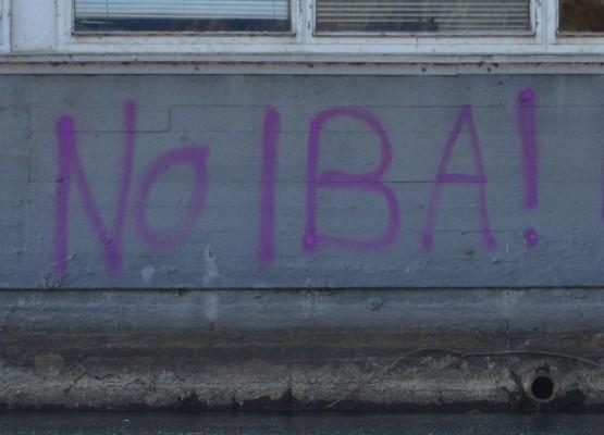 IBA-Protestgraffiti