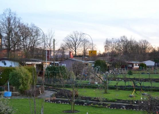 Die Reichsstraße im Rücken - das ist vielen Kleingärtnern immer noch lieber als Wohnungsbau auf ihren Parzellen