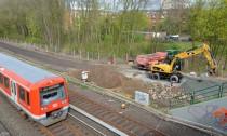 Ganz ohne Lärmschutz - die Brackstraße bekommt Bau- und Bahnlärm voll ab (Large)