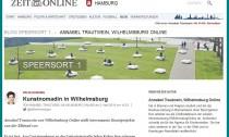 Screenshot WilhelmsburgOnline.de auf Zeit Online cut framed