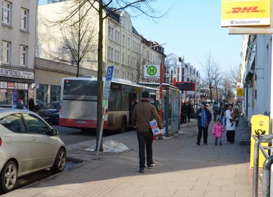 Straßenszene im Reiherstiegviertel